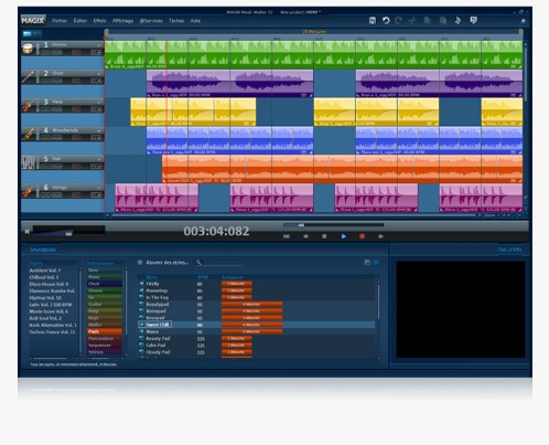 Site web : Magix. INTERFACE PRINCIPALE DE MUSIC MAKER